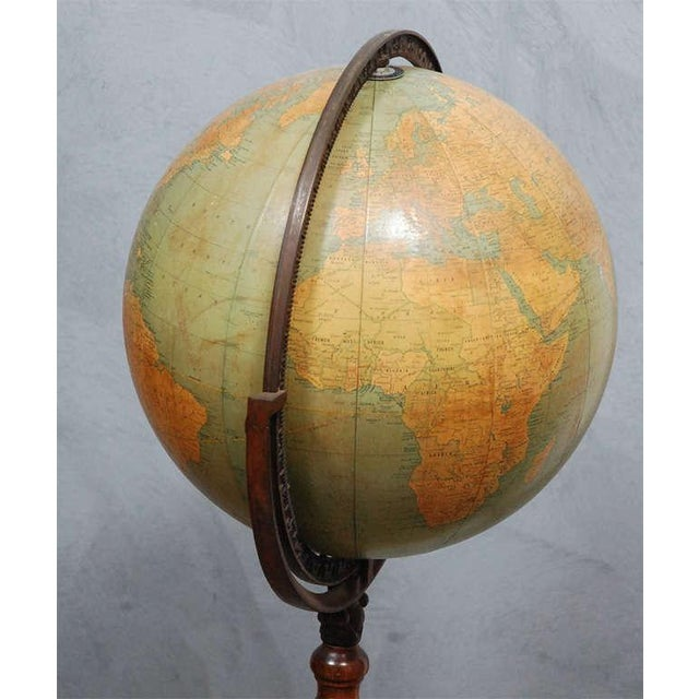 Lovely Antique Cram Terestial 12 Quot Globe On Turned Wood