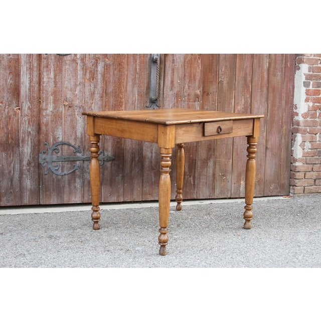 Mid 19th Century Rustic Farmhouse Kitchen Table For Sale - Image 5 of 10