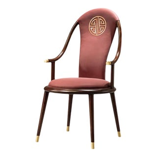 Chinese Ebony Dining Chair For Sale
