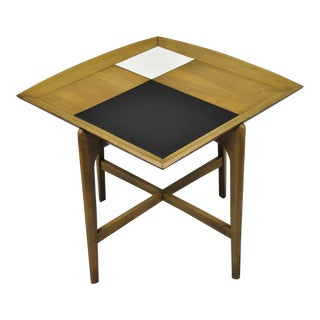 John Keal Brown Saltman Mid-Century Danish Modern Sculptural Walnut Side Table For Sale