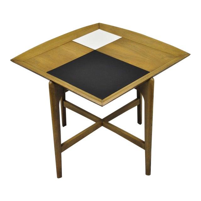 John Keal Brown Saltman Mid-Century Danish Modern Sculptural Walnut Side Table For Sale