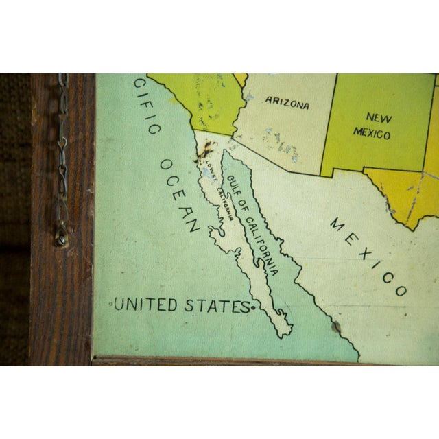Antique Map Folk Art Painting of United States - Image 4 of 8
