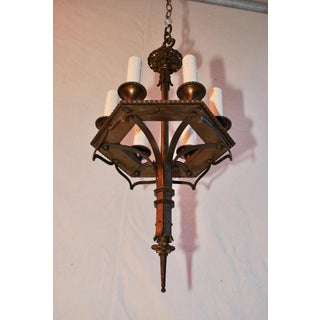 1920s Small Bronze Chandelier Preview
