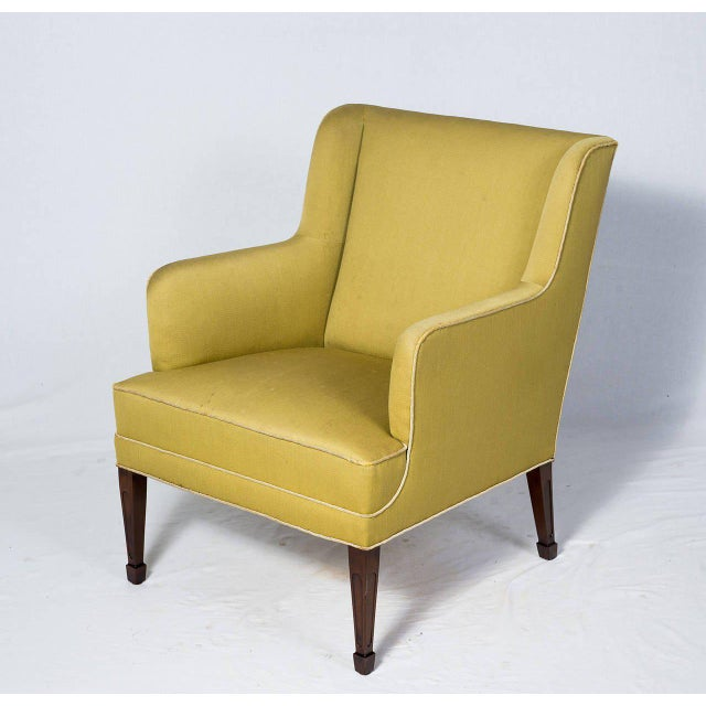 Mid-Century Modern Pair of Frits Henningsen Lounge Chairs For Sale - Image 3 of 10