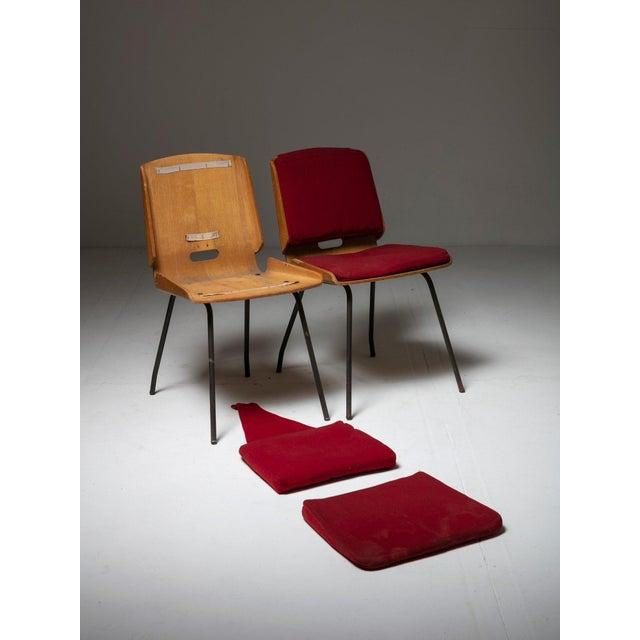 """Giancarlo De Carlo Pair of """"Lucania"""" Chairs by Giancarlo De Carlo for Arflex For Sale - Image 4 of 8"""