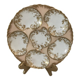 Limoges Peach Oyster Plate For Sale