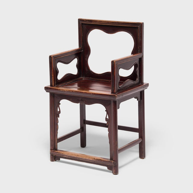 Brown 19th Century Chinese Rose Chairs - a Pair For Sale - Image 8 of 12