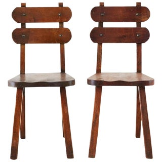 Pair of California Rancho Monterey Dining Chairs For Sale