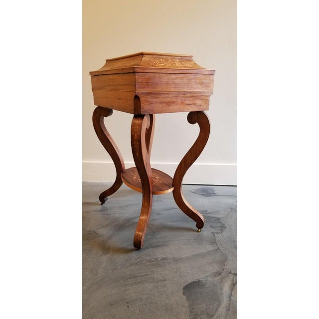 Early 19th Century Charles X Inlaid Rosewood Ladies Vanity, Early 19th Century For Sale - Image 5 of 13