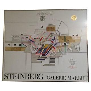 Saul Steinberg Expo Galerie Maeght Poster, 1970