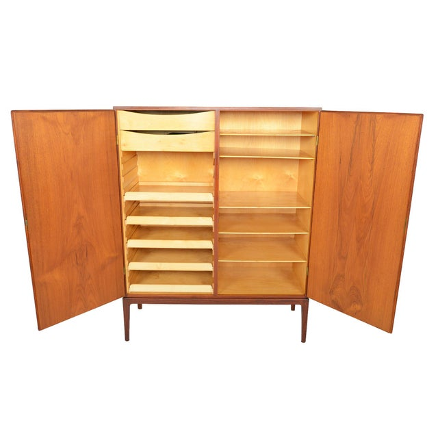 Tall Danish Modern Teak Bureau - Image 2 of 10