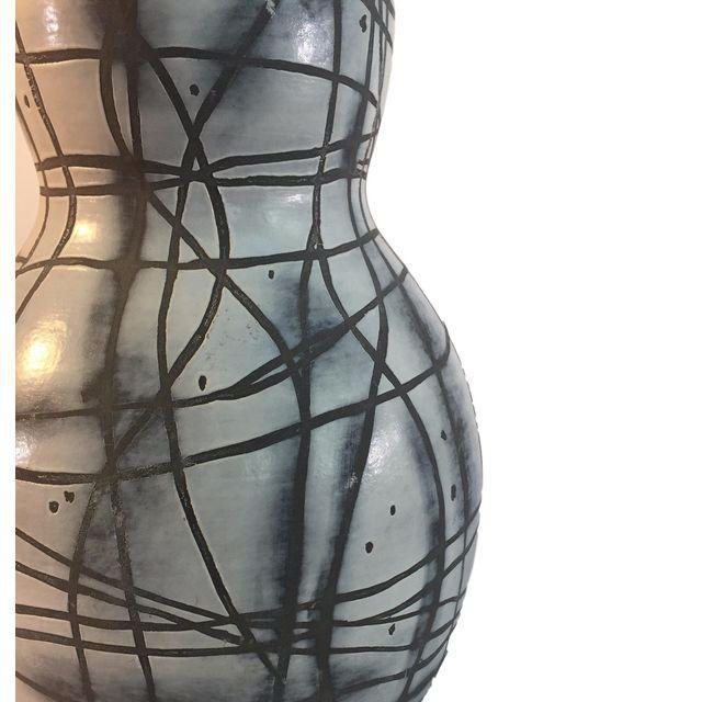 Contemporary Black & White Patterned Vase - Image 4 of 5