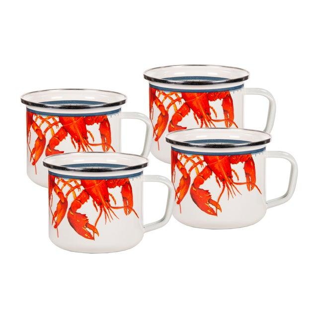 Modern Grande Mugs Lobster - Set of 4 For Sale - Image 3 of 3