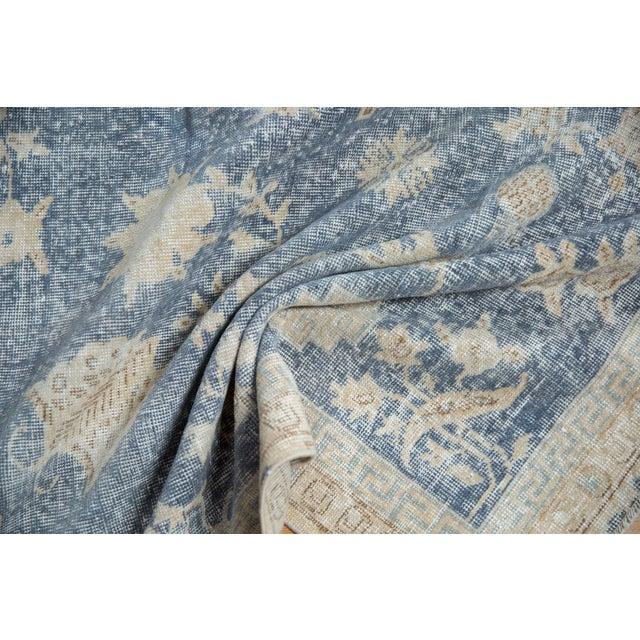 "Boho Chic Vintage Distressed Fragment Sparta Carpet - 5'7"" X 9'1"" For Sale - Image 3 of 11"