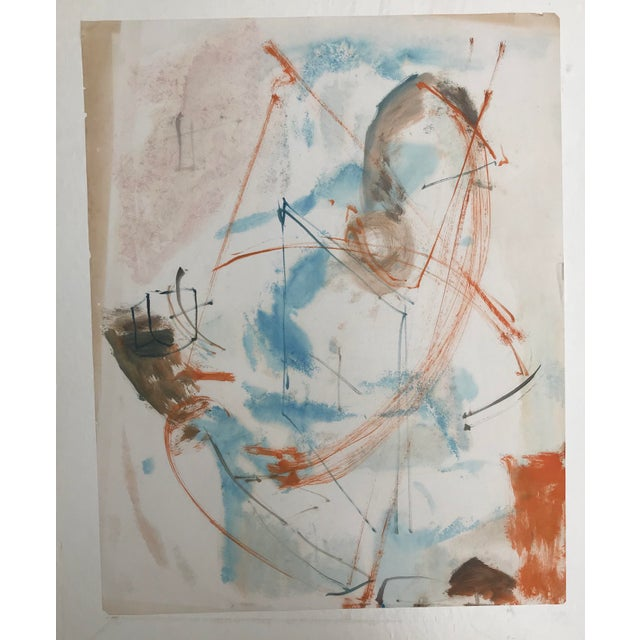 Abstract 1950's Vintage Abstract Figurative Painting by Robert Colborne For Sale - Image 3 of 3