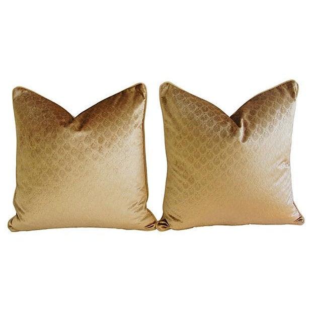 Custom French Pierre Frey Velvet Pillows - A Pair - Image 6 of 7