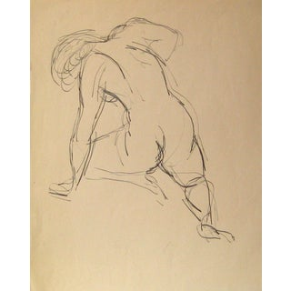 Ink Figure Sketch by J. Tofel For Sale