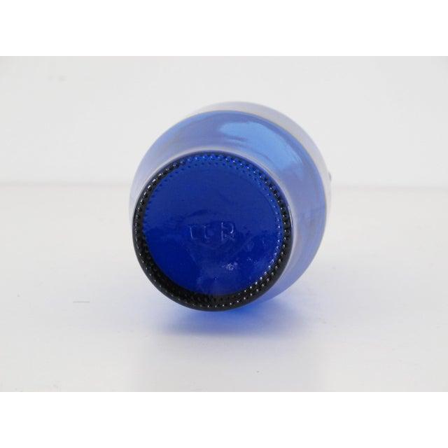 Cobalt Blue Bottle with Handles - Image 5 of 5