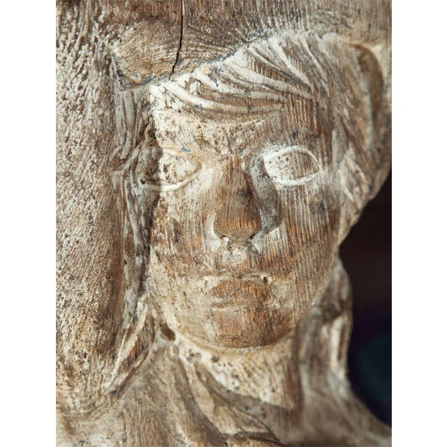 Carved Solid Wood Figure or Pedestal For Sale In New York - Image 6 of 8