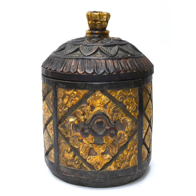 Antique tibetan nepalese wood carved box chairish for Buy reclaimed wood los angeles