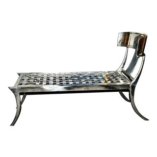 Modern Patio Klismos Chaise Lounge For Sale