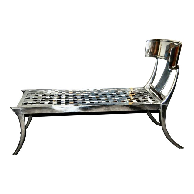 Modern Patio Klismos Chaise Lounge For Sale