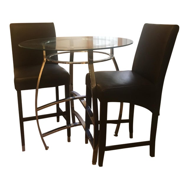 Pub Style Dining Set With Two Chairs - Image 1 of 4