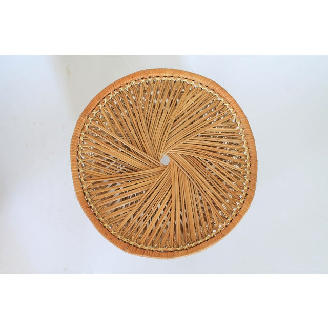 Wicker Boho Style Wicker Chair and Table For Sale - Image 7 of 10