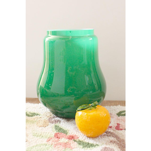 Mid 20th Century Mid Century Modern Green Italian Glass Vase in the Style of Carlo Moretti For Sale - Image 5 of 6