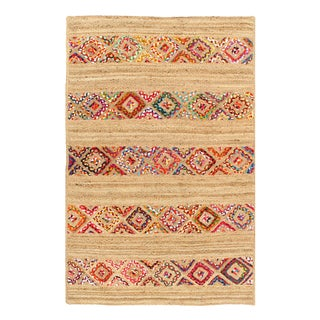 Pasargad Fine Handmade Braided Cotton & Organic Jute Rug - 4' X 6' For Sale