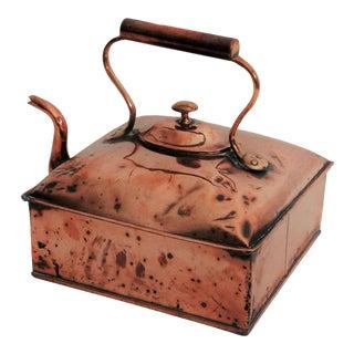 Antique Ship Captain's Nautical Teapot Copper For Sale