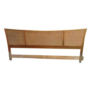 Mid-Century Modern Cane Headboard - King Size