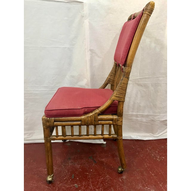 Bamboo Dining Chairs Set of 8 For Sale - Image 9 of 13