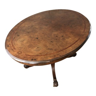 20th Century Victorian Tilt-Top Table With Burlwood Veneers For Sale