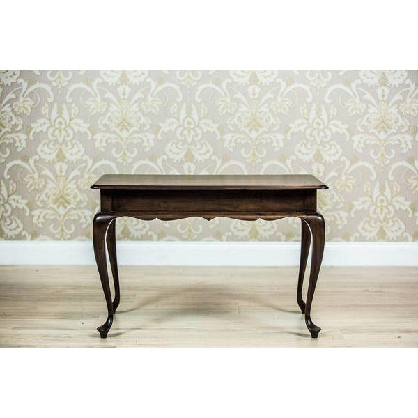 Wood 20th-Century Rectangular Coffee Table For Sale - Image 7 of 7