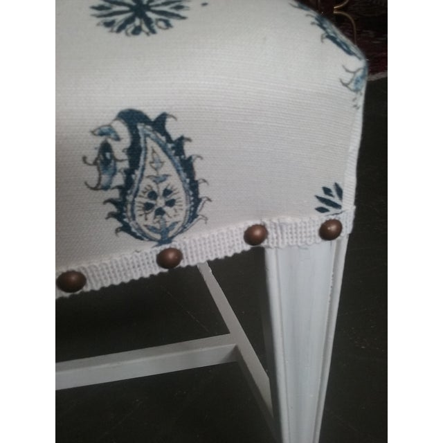 1940s Vintage Hepplewhite Side Chairs Brunschwig Paisley Fabric - a Pair (6 Available) For Sale - Image 5 of 7
