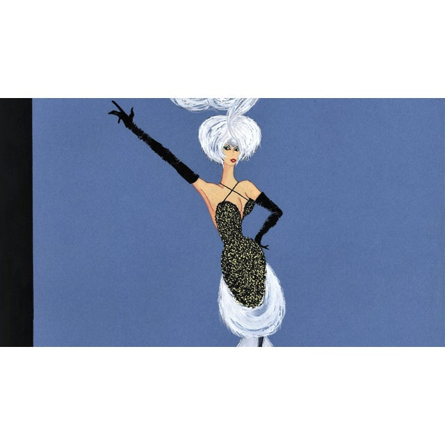 1950s Mid-Century Fun! 1950s Vintage Cabaret Costume Fashion Gouache Drawing For Sale - Image 5 of 6