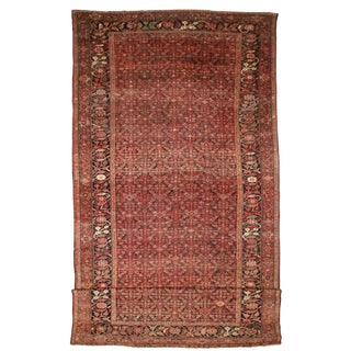 RugsinDallas Antique Hand Knotted Wool Persian Malayer Rug - 13′ × 28' For Sale