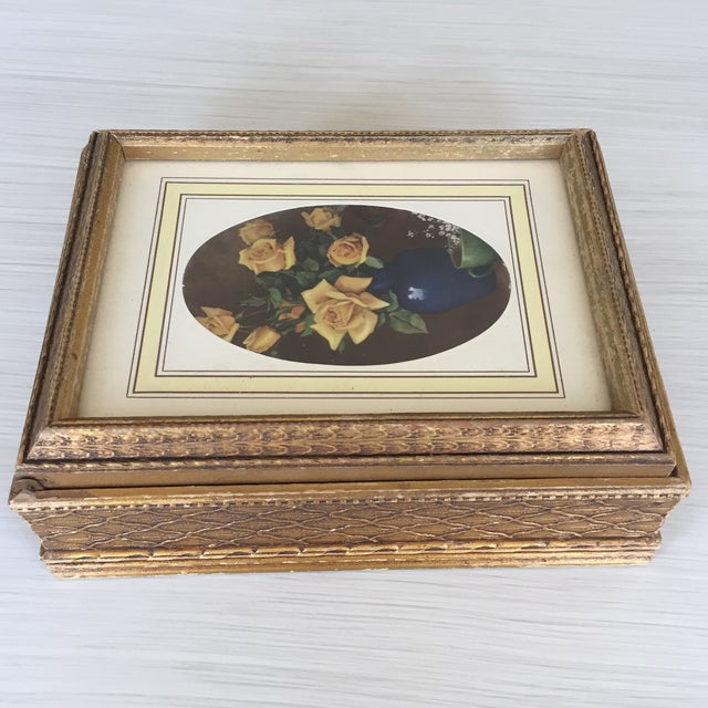 Antique Carved Wooden Jewelry Box - Image 4 of 11