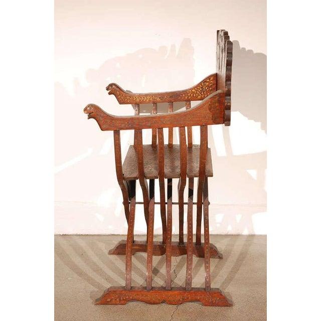 Hispano Moresque Savonarola Inlaid Armchair For Sale In Los Angeles - Image 6 of 9