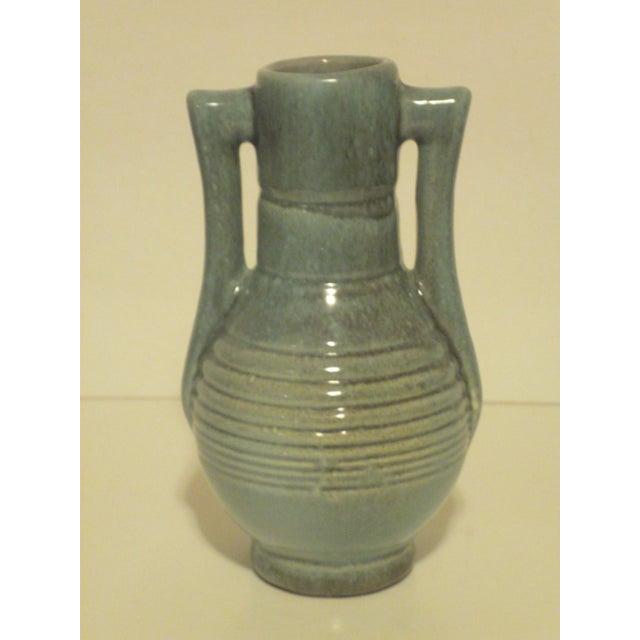 Vintage Aqua Colored Vases - Set of 3 - Image 4 of 11