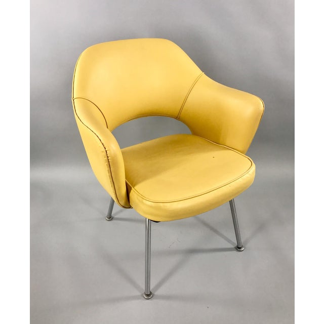 Metal Original 1950's Vintage Eero Saarinen for Knoll Model 71 Executive Armchairs - a Pair For Sale - Image 7 of 11