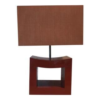 Armani Casa Orange Lacquer Lamp