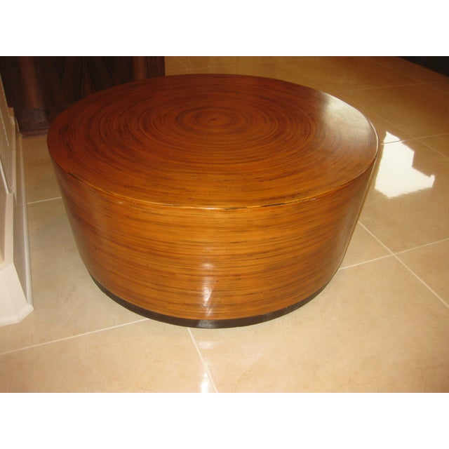 """This listing consist of a mid century modern round drum low table. It is in good shape as seen in picture. It measures 30""""..."""