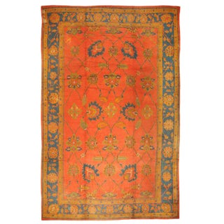 Antique Oversize Late 19th Century Turkish Oushak Carpet For Sale