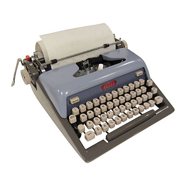 Mid-Century Blue Royal Futura 800 Typewriter - Image 4 of 7