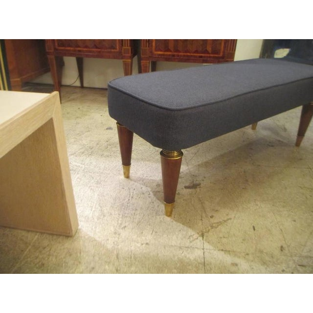 Pair of Italian Mid-Century Modern Upholstered Benches For Sale - Image 4 of 6