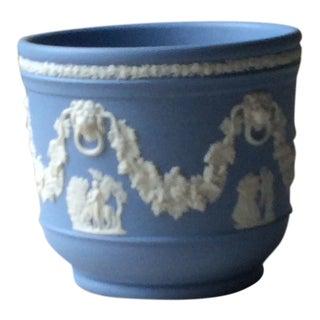 Wedgewood Blue Jasperware Cachepot For Sale
