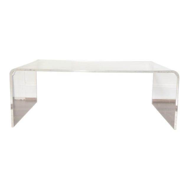CB Lucite Waterfall Coffee Table Chairish - Cb2 lucite coffee table