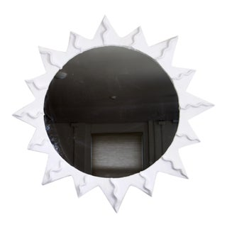 Sunburst Plaster Mirror For Sale